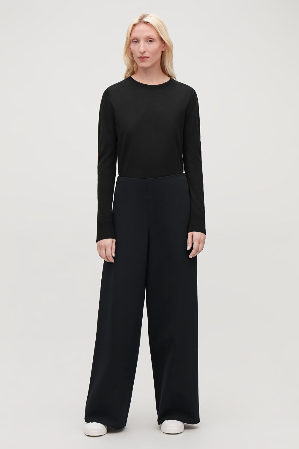 ELASTIC-DETAIL JERSEY TROUSERS