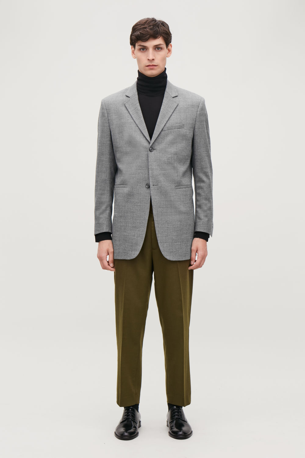 REGULAR-FIT WOOL BLAZER