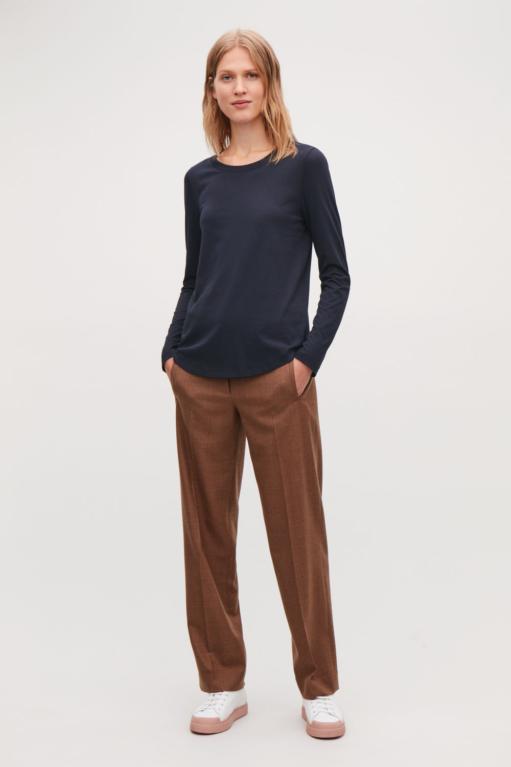 COTTON LONG-SLEEVED TOP