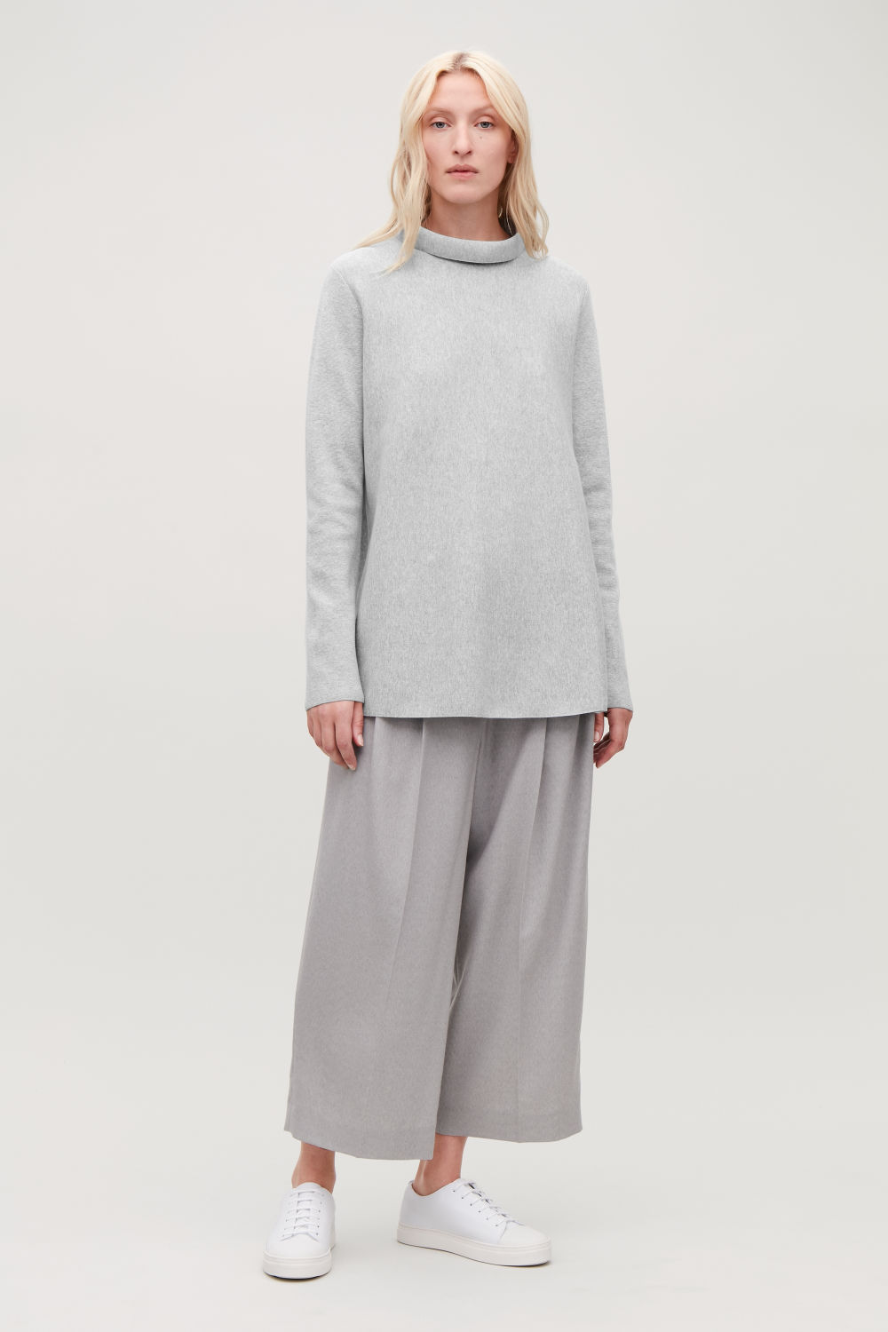 A-LINE TOP WITH FUNNEL NECK