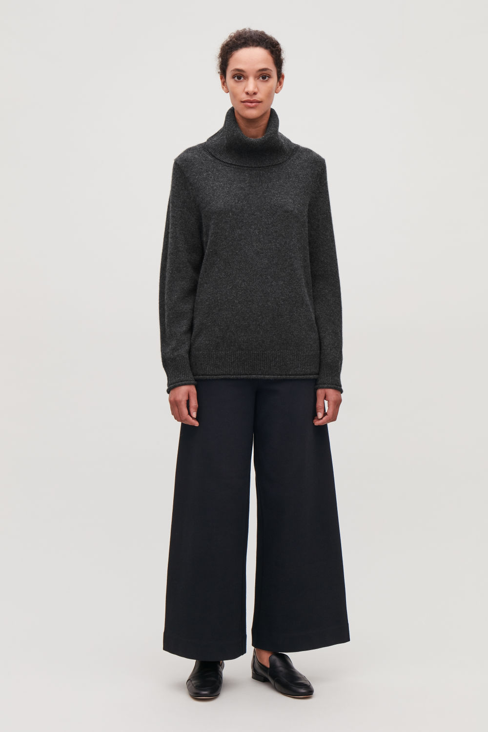 RIBBED STRETCH-COTTON TROUSERS