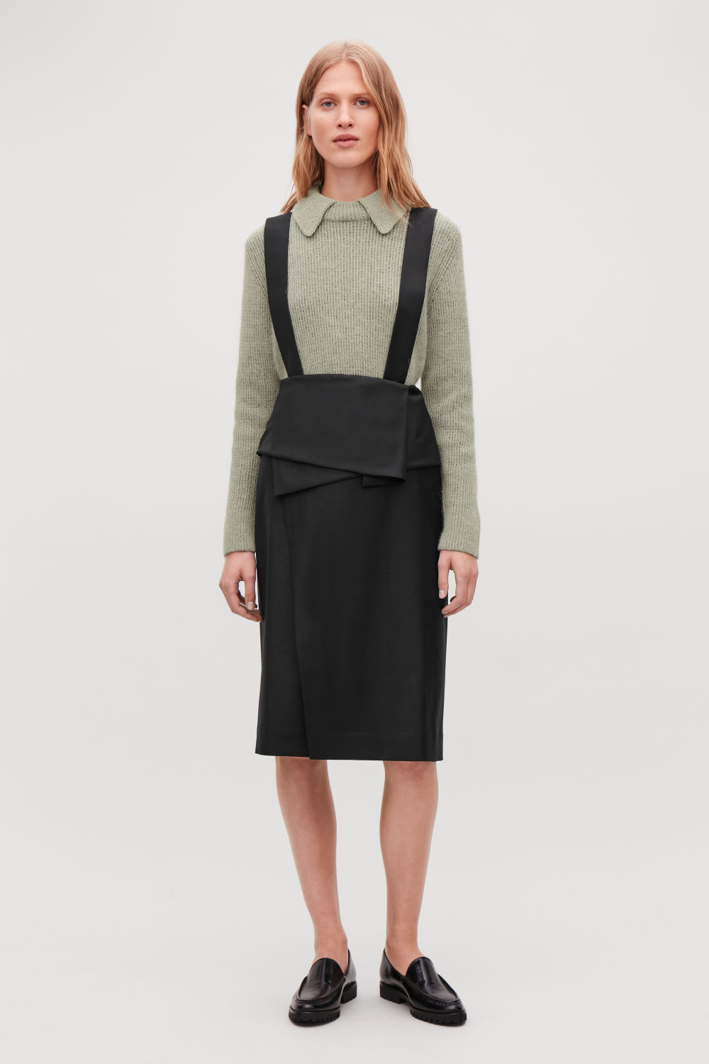 DRAPED APRON SKIRT