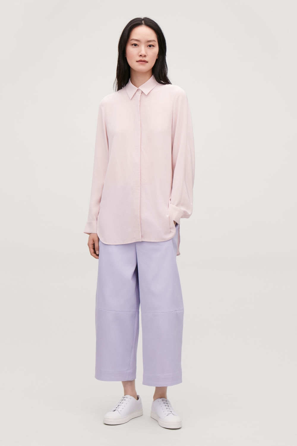 LONG COCOON SILK SHIRT