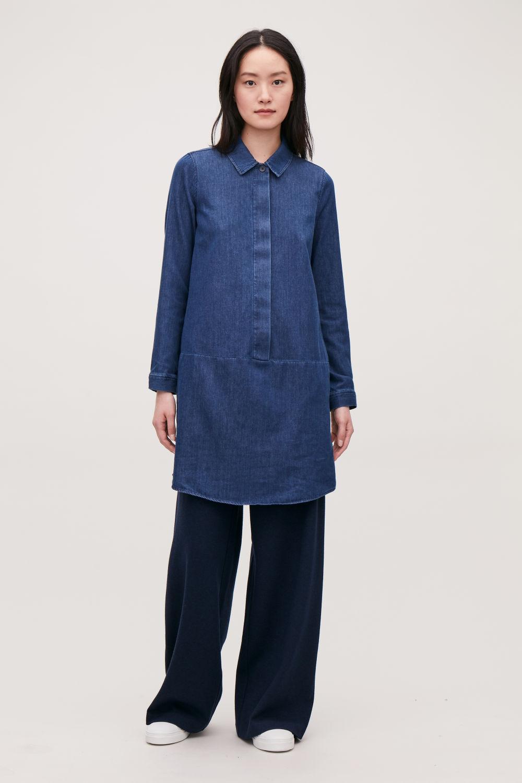 174fca7d8ada8 Silk Button Down Shirt Dress - BCD Tofu House