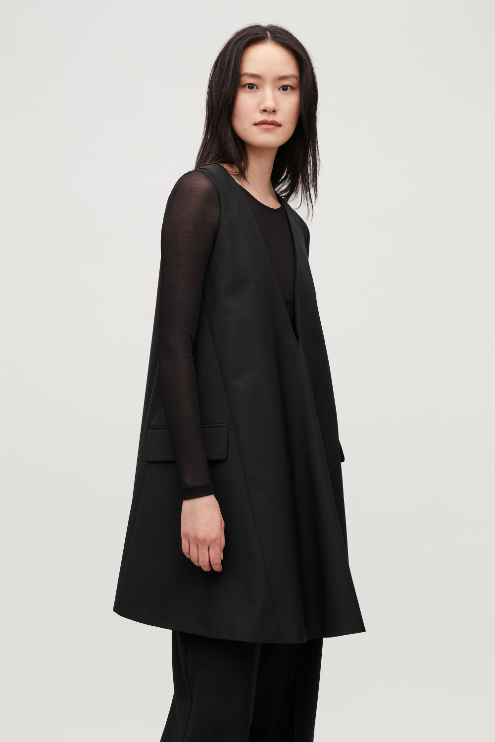 TAILORED WOOL A-LINE DRESS