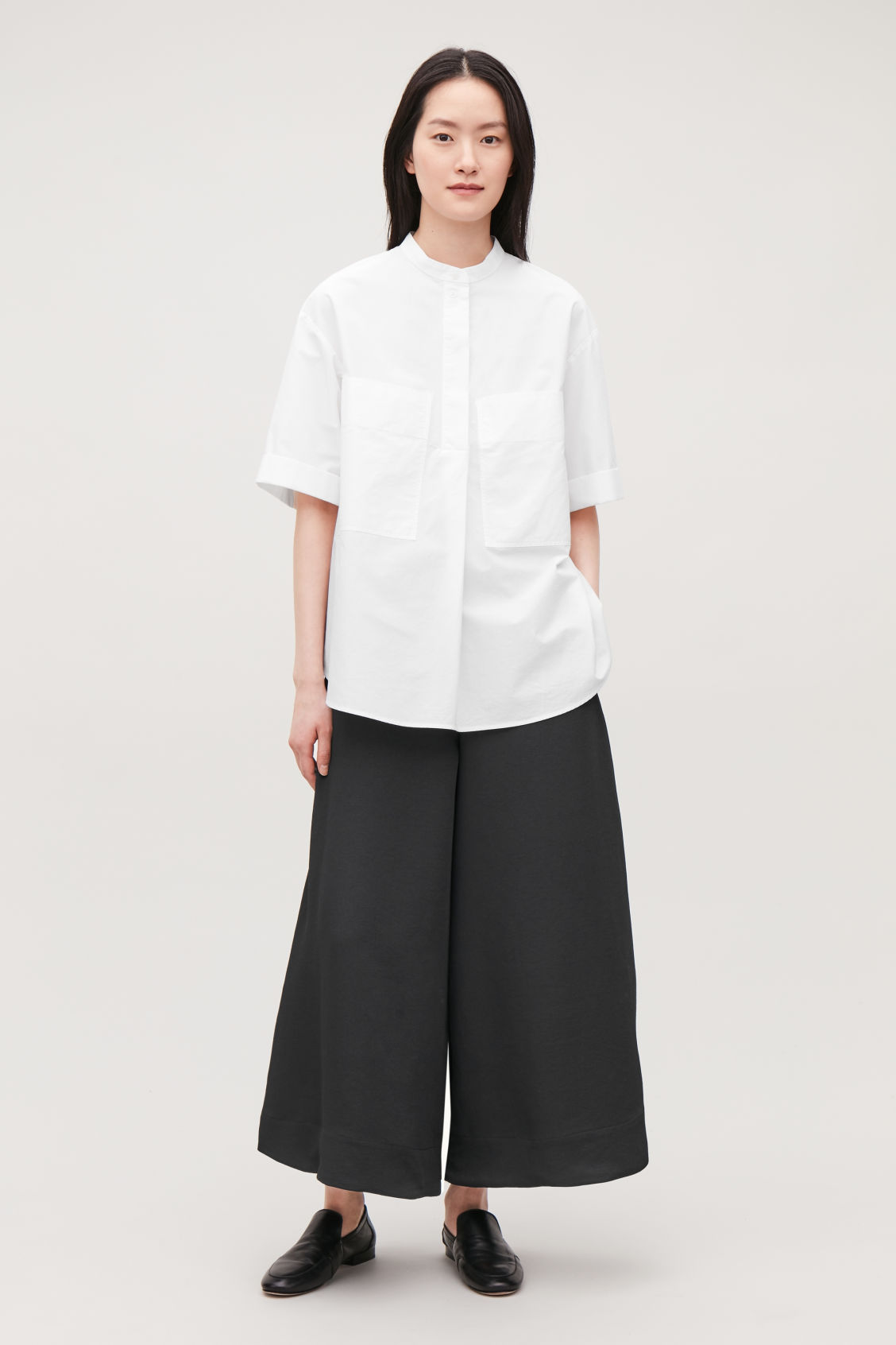 Model front image of Cos culottes with elastic waist in black