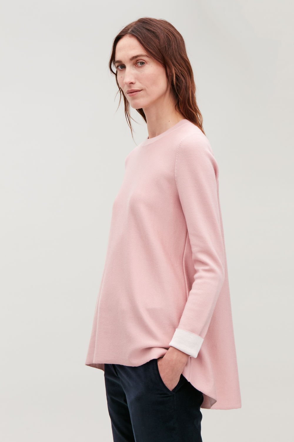 DOUBLE-FACE MERINO WOOL JUMPER