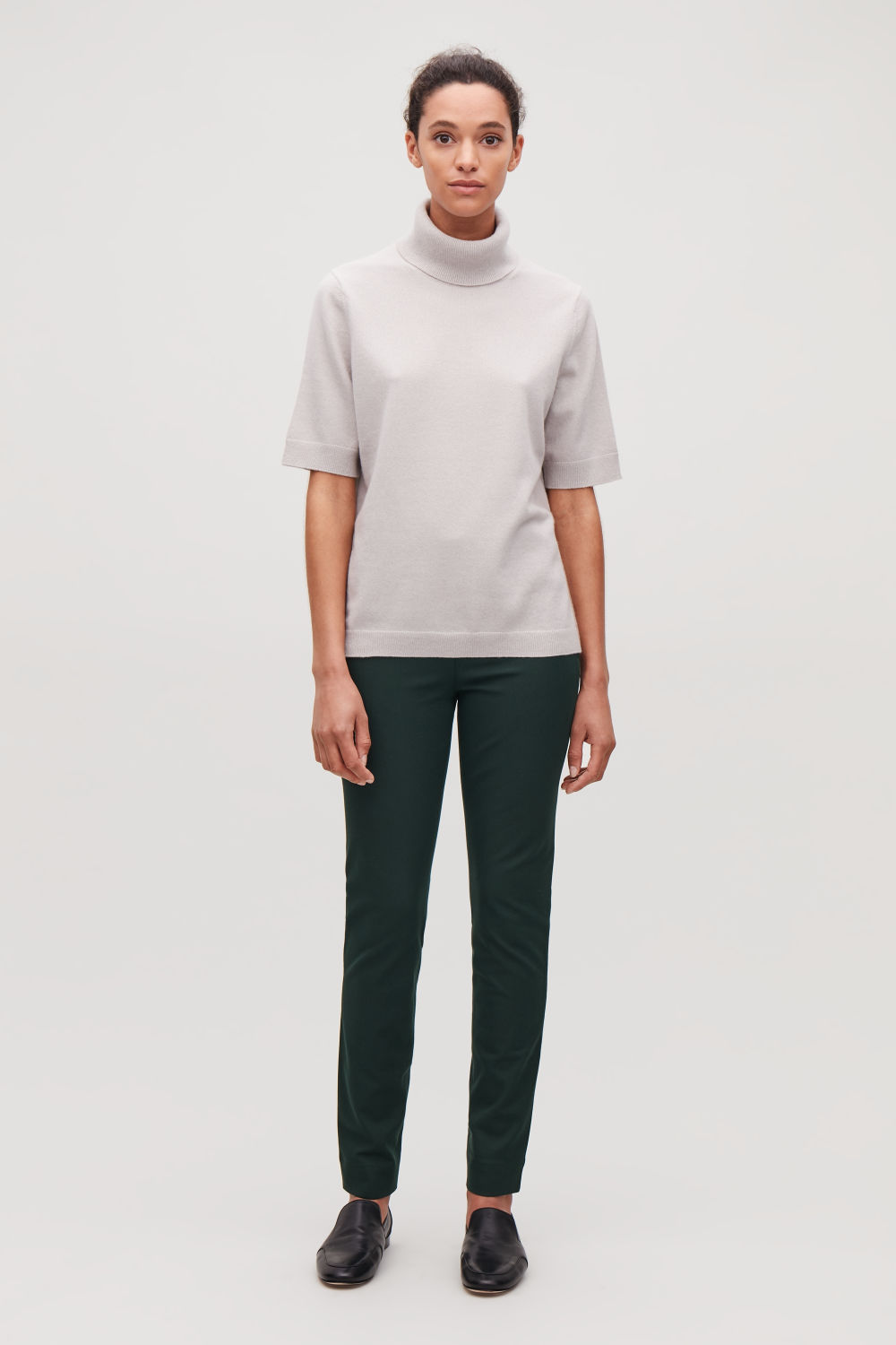 STRETCH-TWILL SLIM TROUSERS