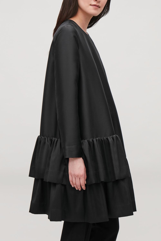Mid Length A Line Frill Dress
