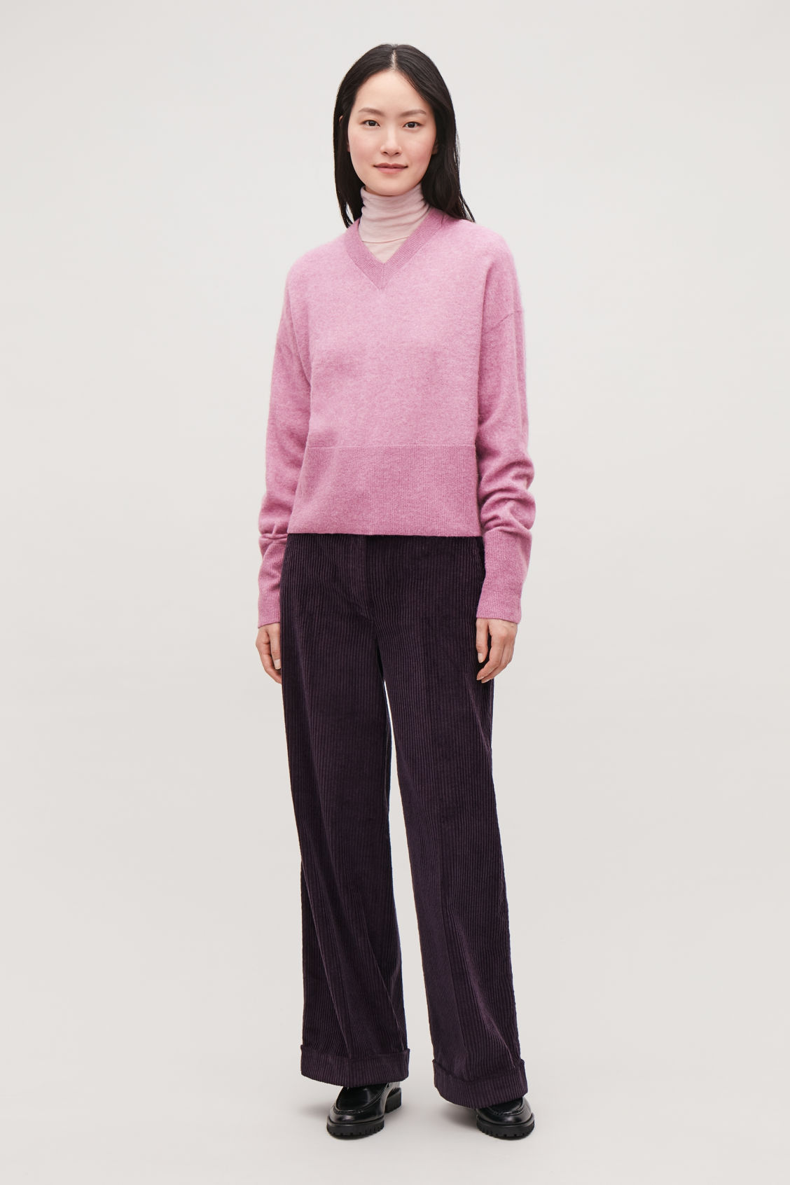 Model front image of Cos  in purple