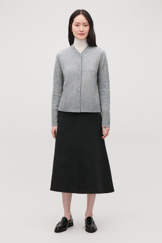 Cardigans Knitwear Women Cos Olive Basic Cardy Cardigan Alpaca Wool V Neck