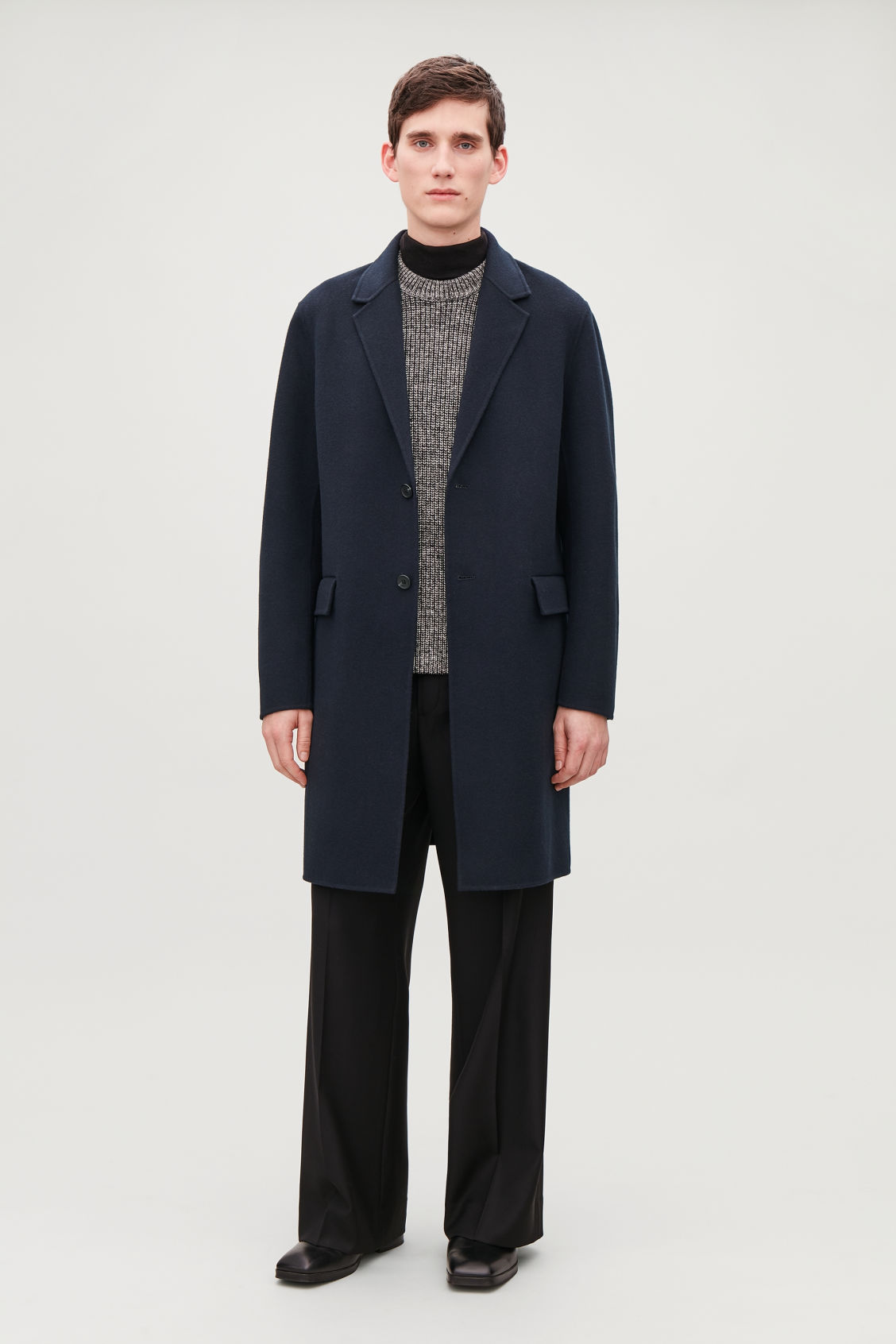 0add7c8f9356 DECONSTRUCTED WOOL COAT - Navy - Coats and Jackets - COS