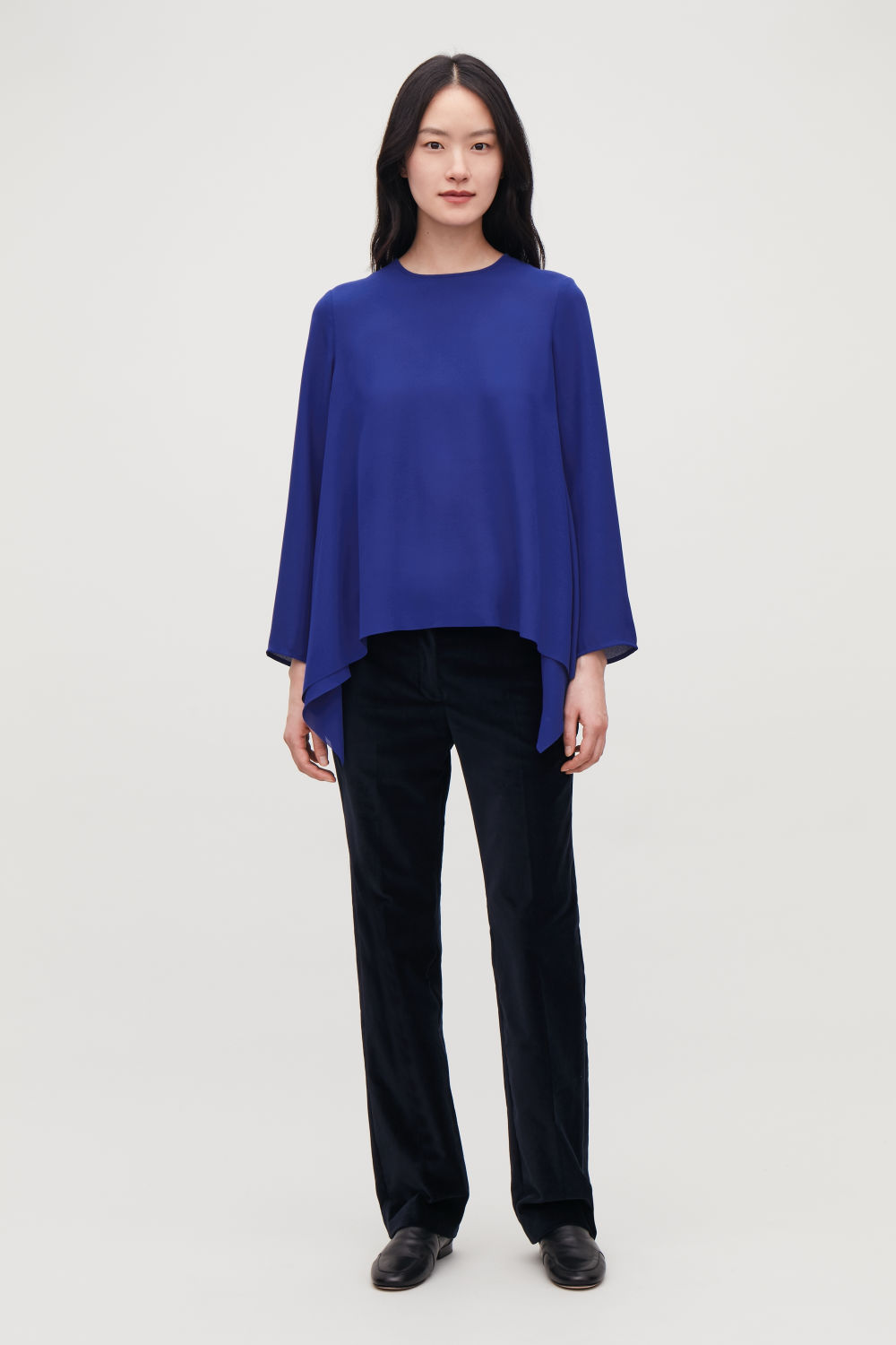 A-LINE TOP WITH PLEATED BACK