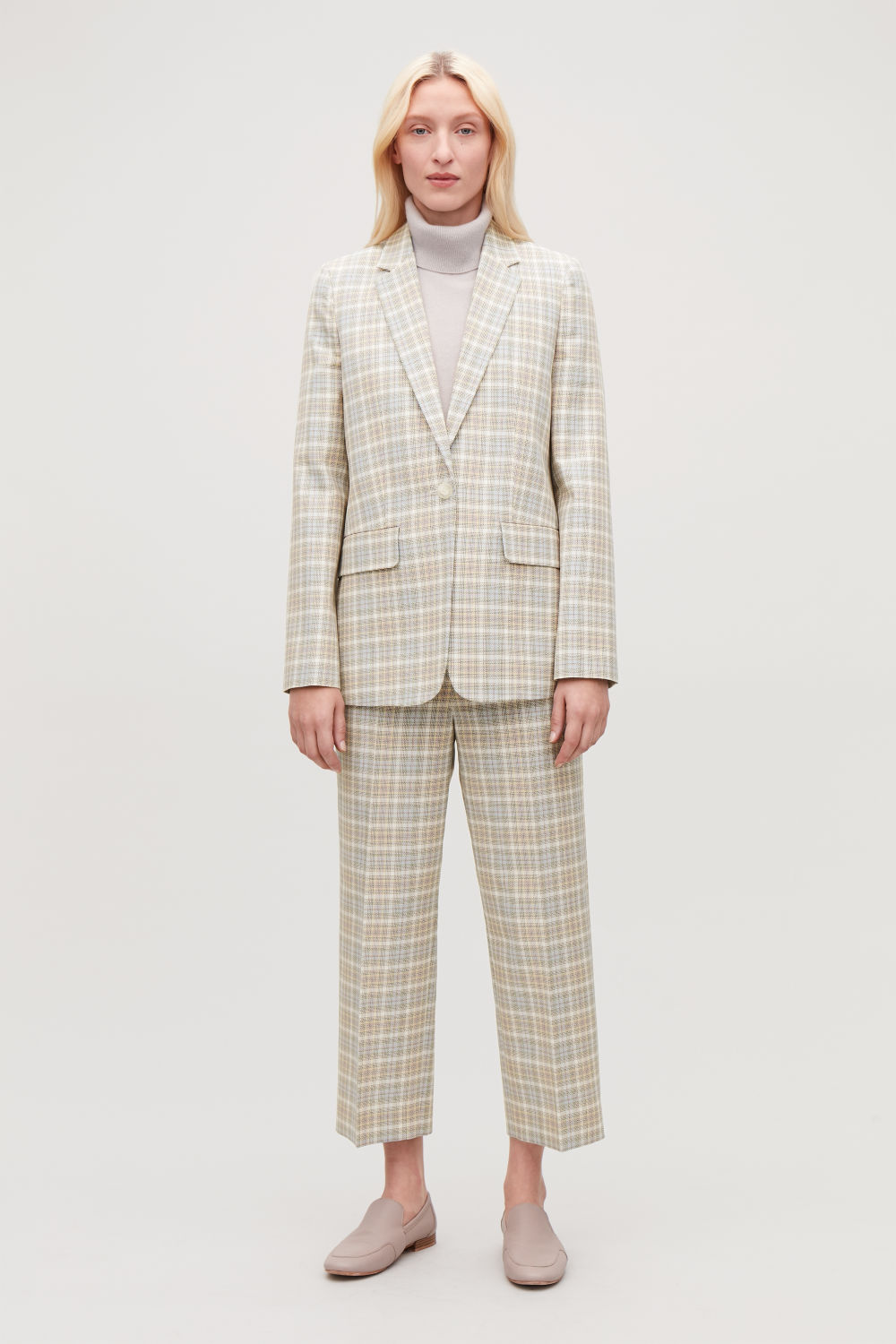 CHECKED SLIM-FIT BLAZER