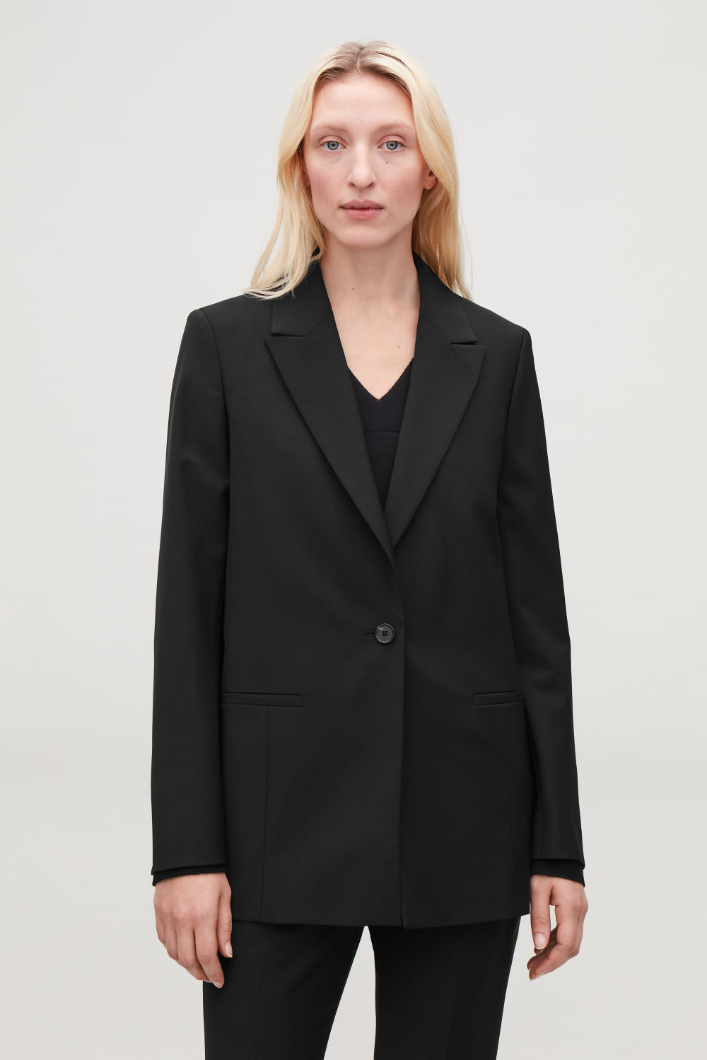 SINGLE-BREASTED BLAZER WITH ZIPS
