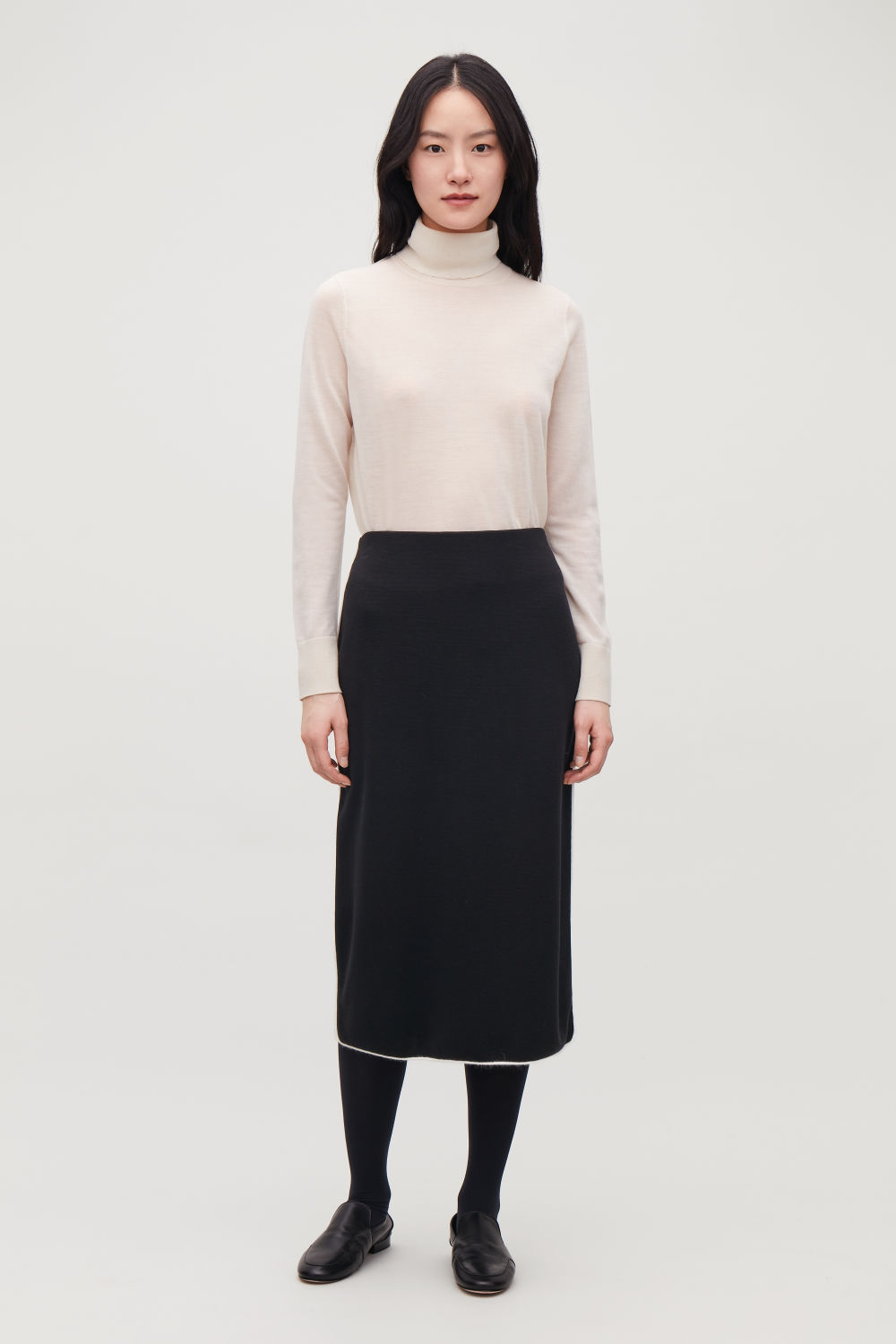 TRIMMED KNIT PENCIL SKIRT
