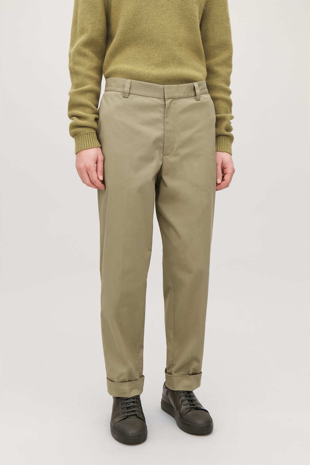 COTTON PRESS-FOLDS CHINOS