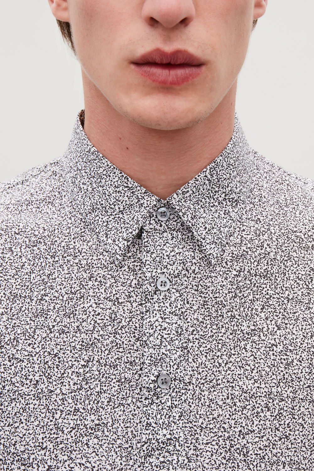 PRINTED LONG-SLEEVED POLO