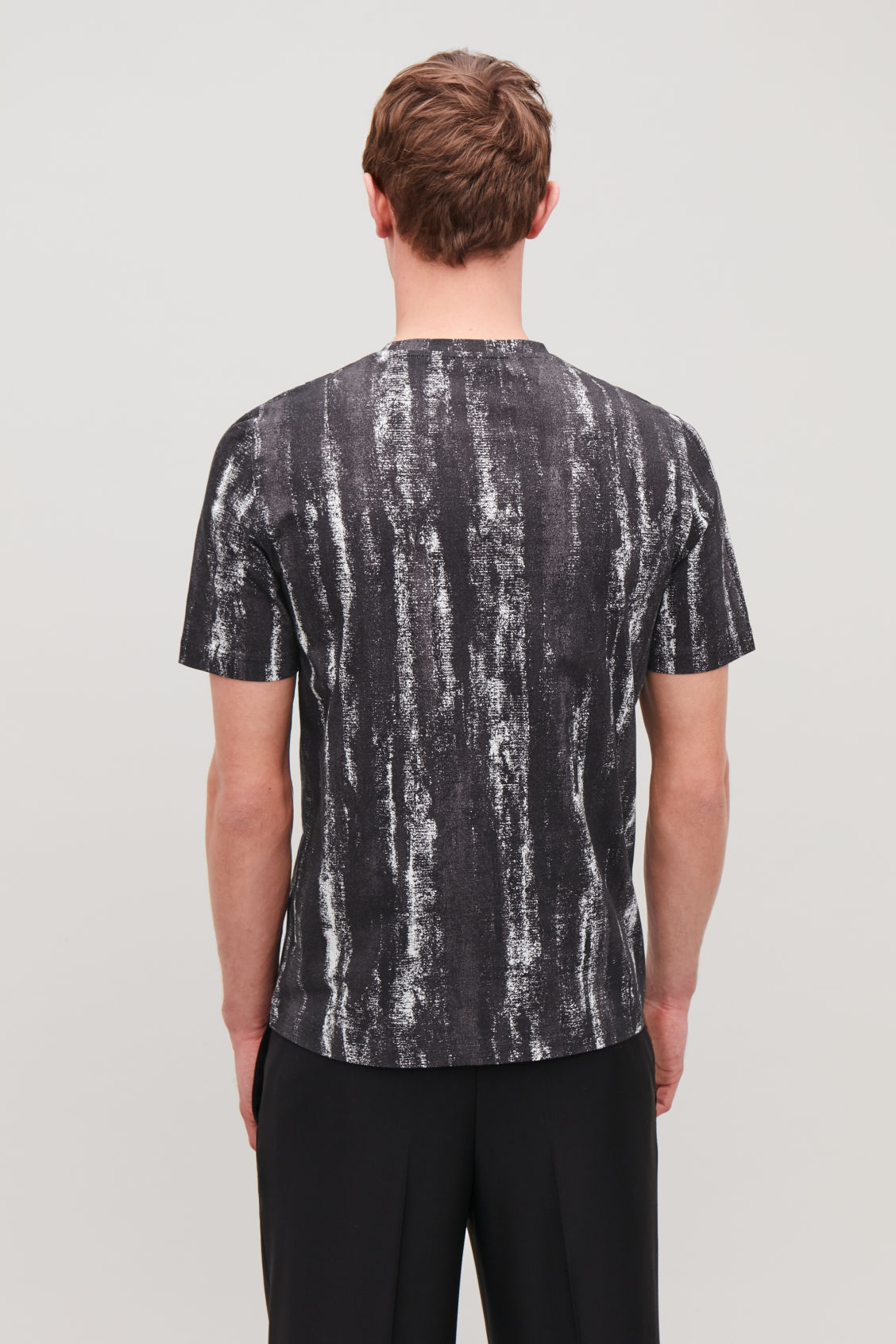 Model side image of Cos brush print t-shirt  in black
