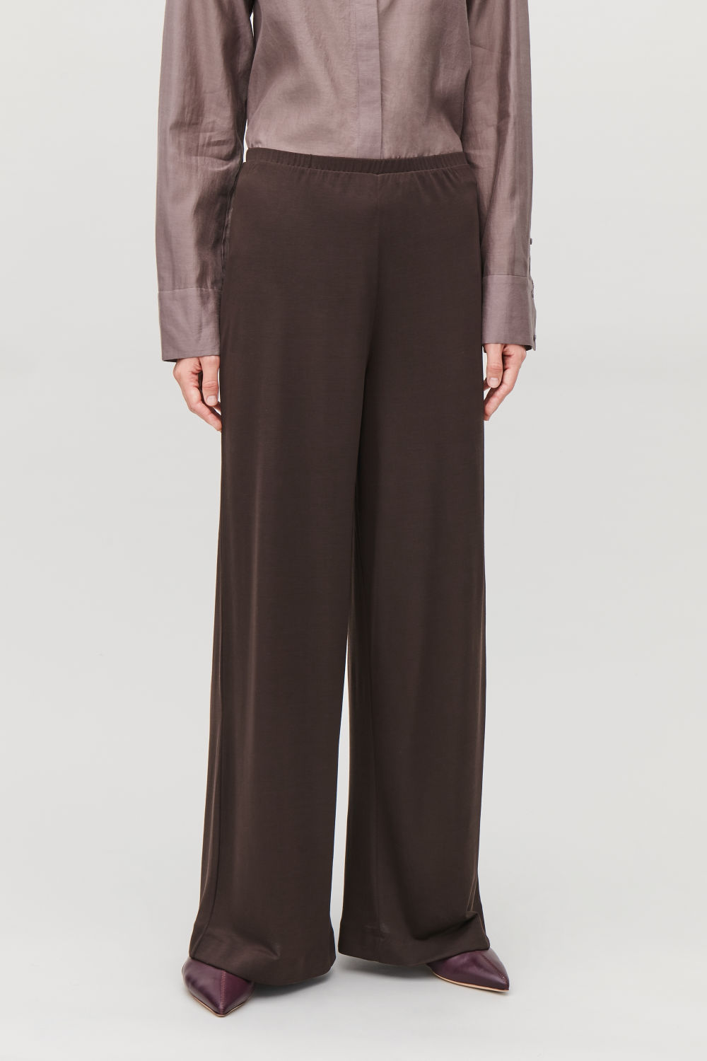 ELASTIC-WAIST JERSEY TROUSERS