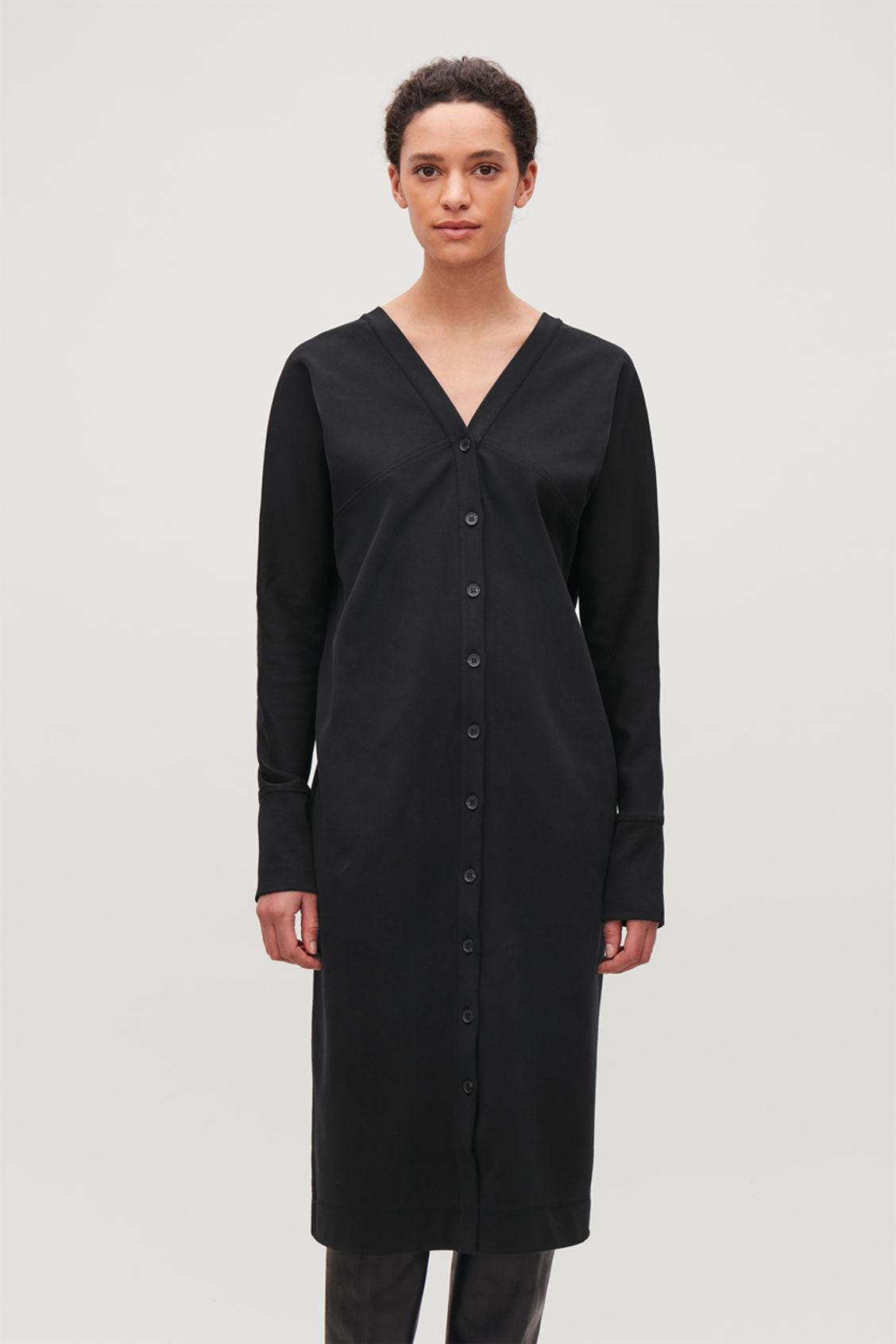 d6290366cb Black Deep V Neck Dress - Dress Foto and Picture