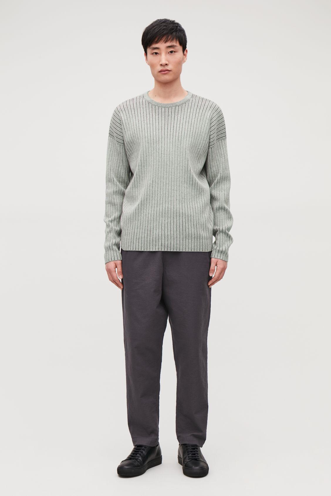 8f888a3e3345 KNITTED OVERSIZED JUMPER - Grey melange   black - Knitwear ...