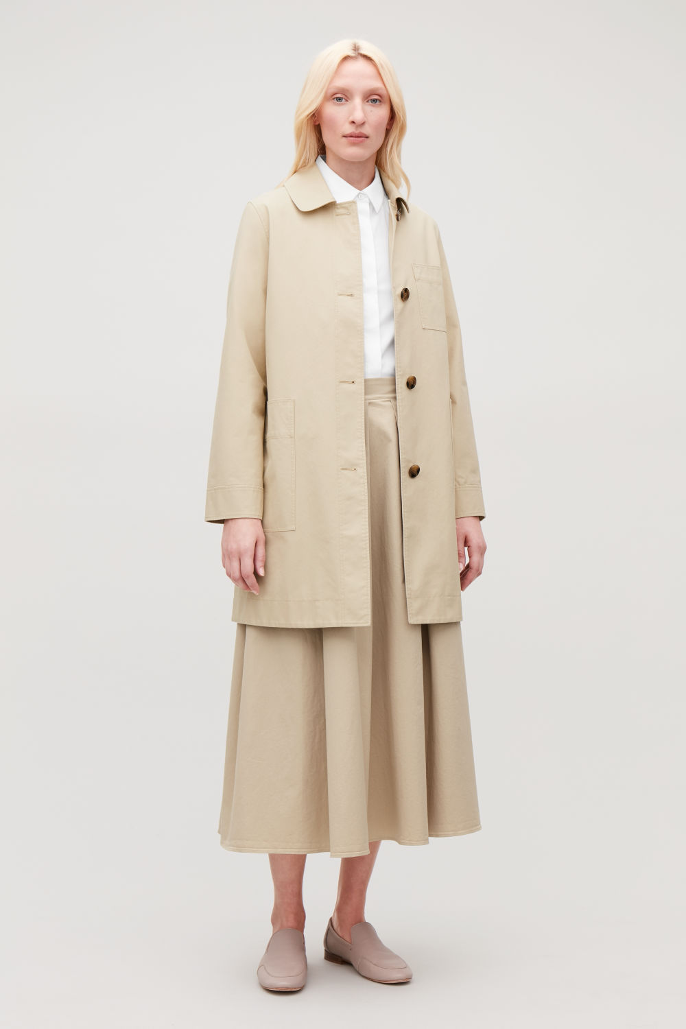 SHORT WORKWEAR TRENCH COAT
