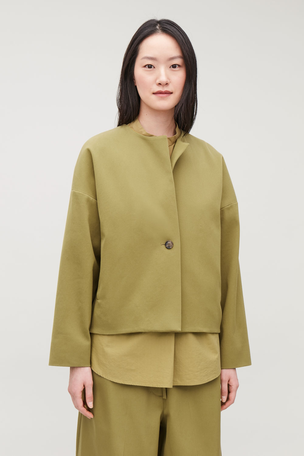 BOXY A-LINE COTTON JACKET
