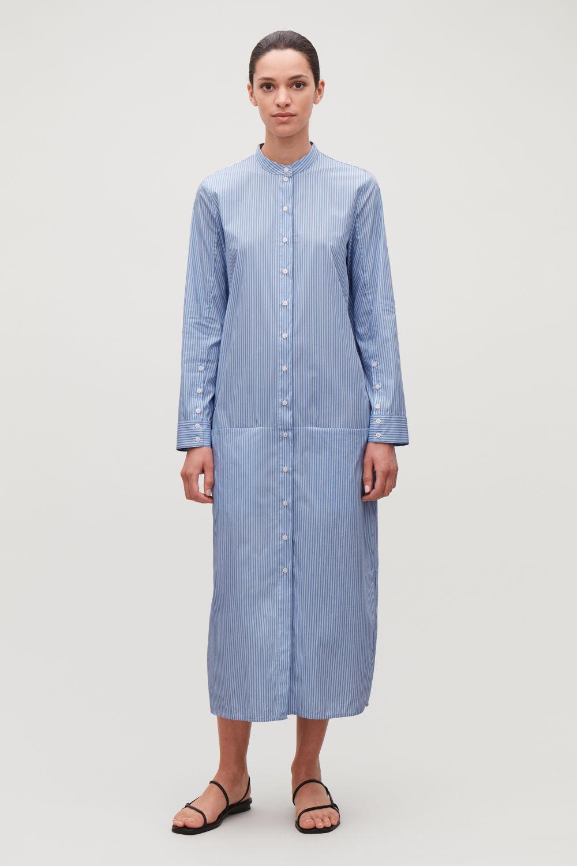 LONG STRIPED COTTON DRESS ... 52e72d8ad088