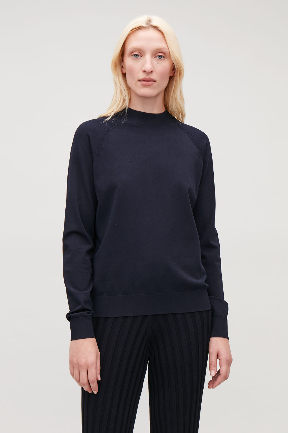 POINTELLE-DETAILED KNITTED TOP