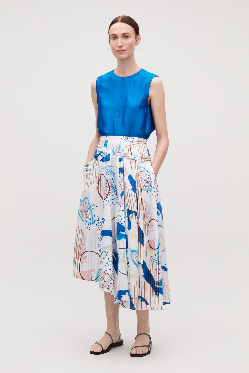 75a033c64b73d PRINTED SKIRT WITH BELT ...
