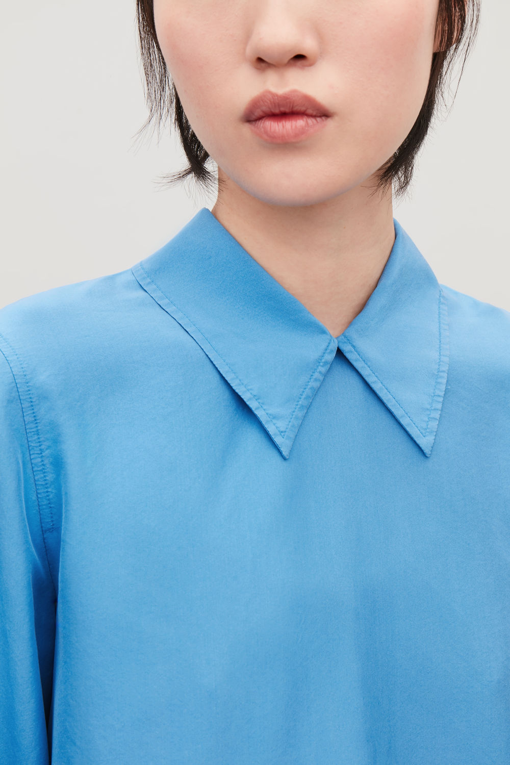 7d3ed2fcf090a SILK SHIRT WITH POINTED COLLAR ...