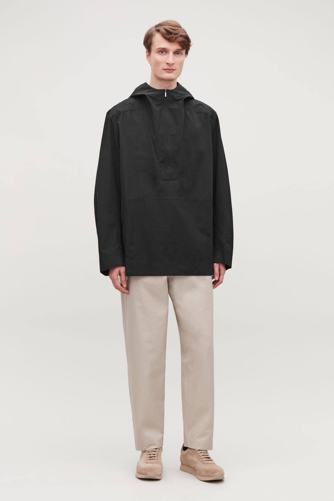 Model front image of Cos lightweight pullover jacket  in black