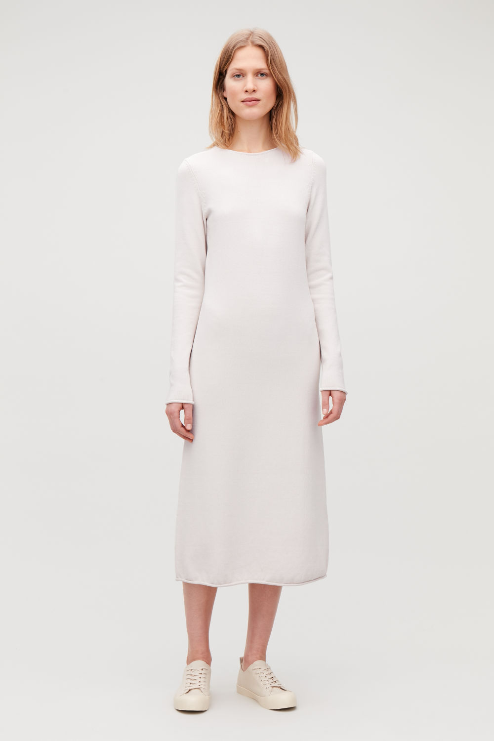 LONG MID-WEIGHT KNIT DRESS