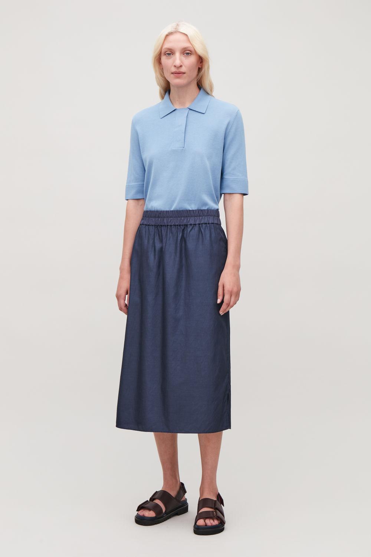 1dc722dde60 Grey Jersey Pleated Midi Skirt - Data Dynamic AG
