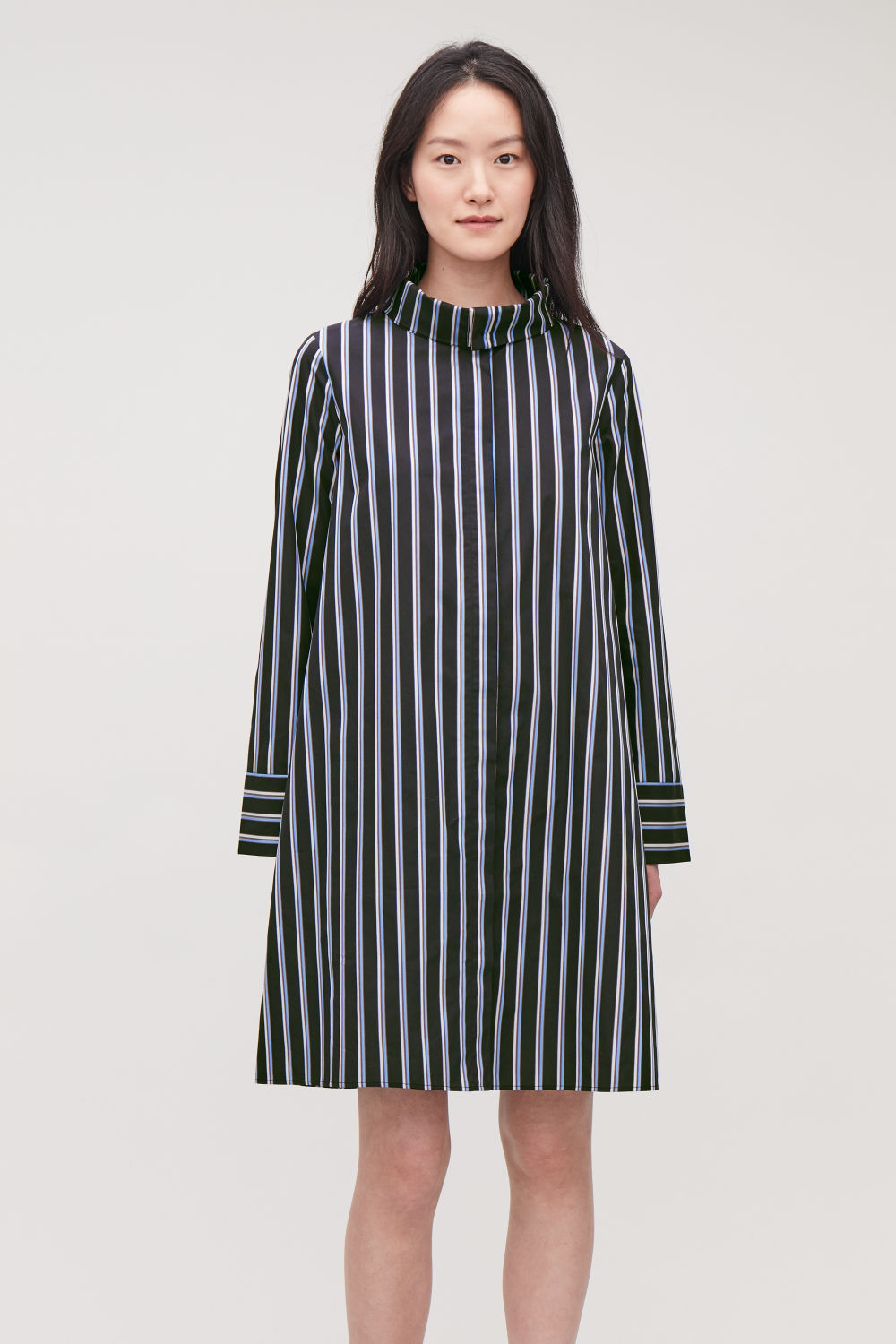 STRIPED DRESS WITH COLLAR