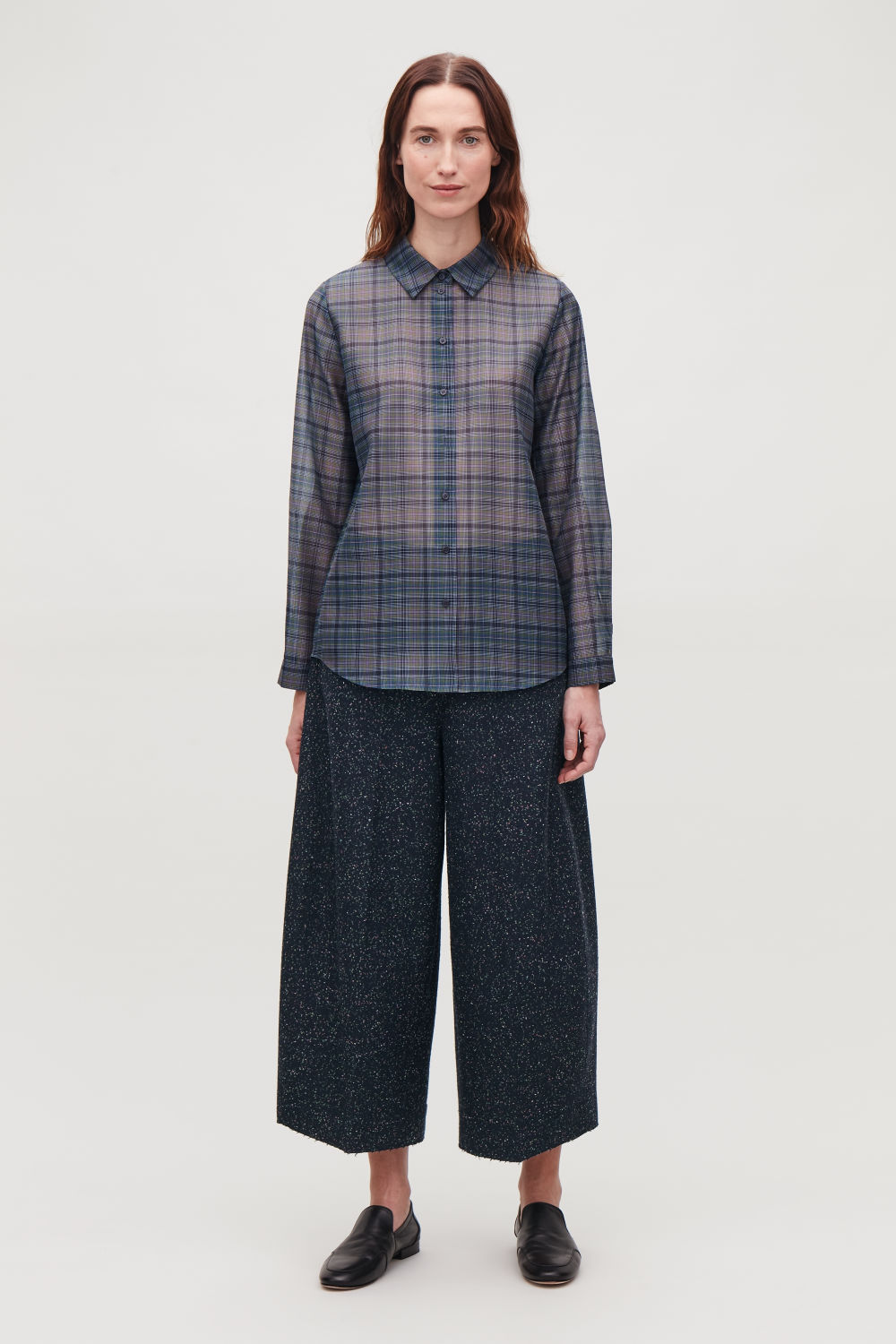 LOOP-STITCHED ROUNDED WOOL CULOTTES