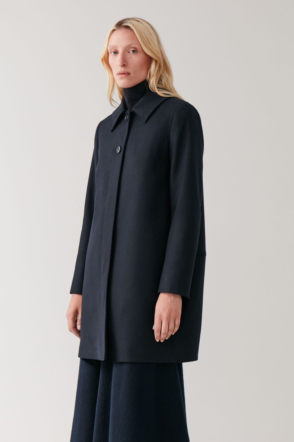 Single Breasted Wool Cashmere Coat by Cos