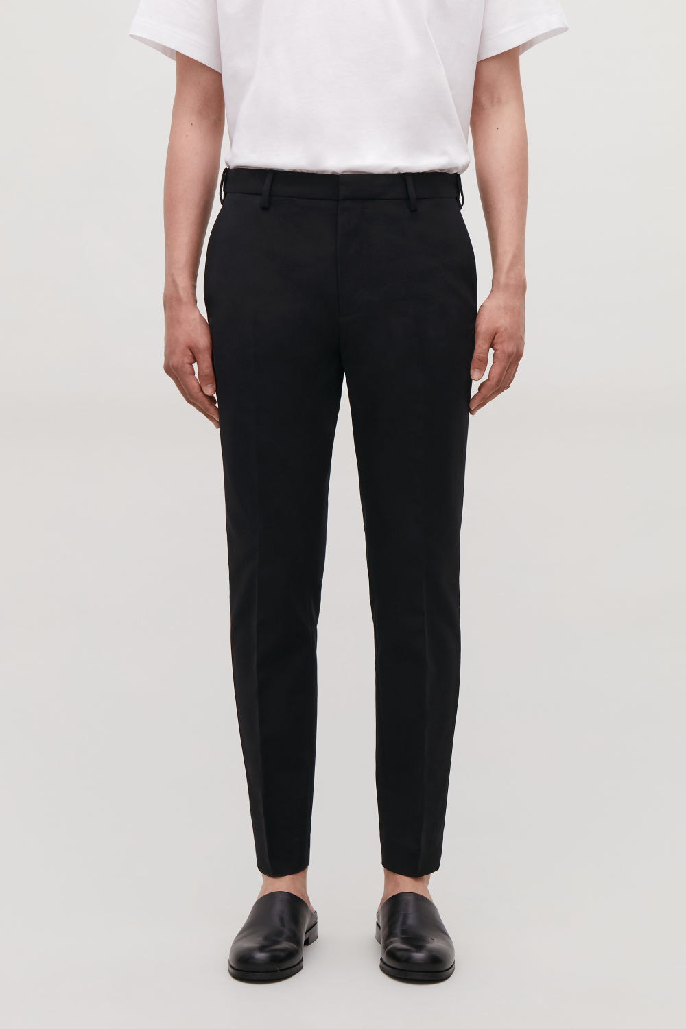 Skinny Stretch Cotton Trousers by Cos