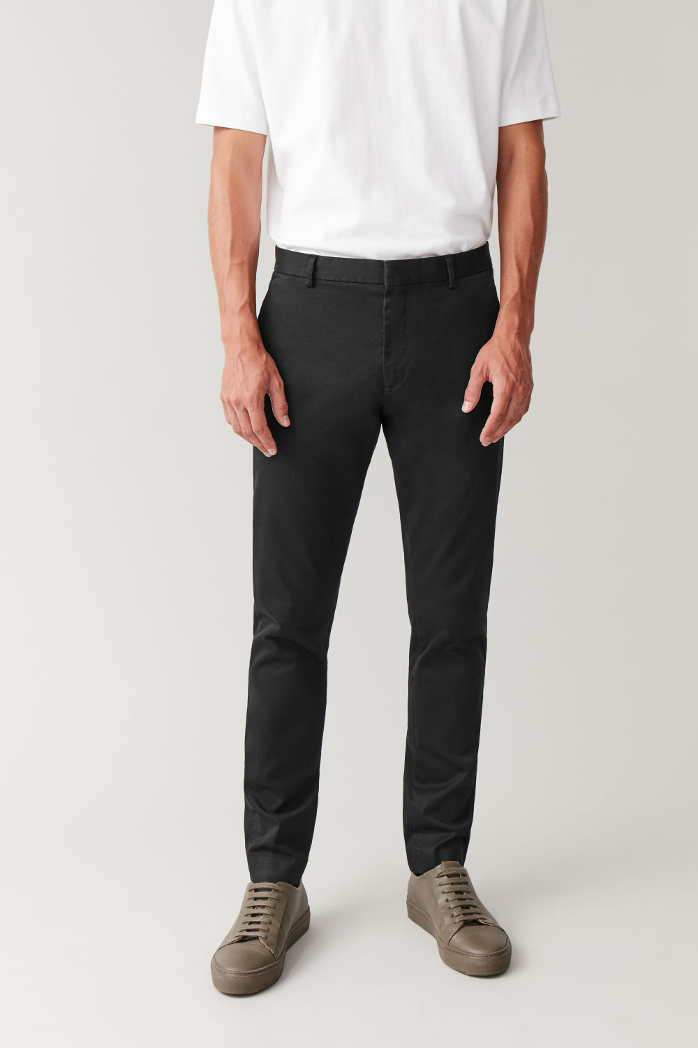 Brushed Cotton Chino Pants by Cos