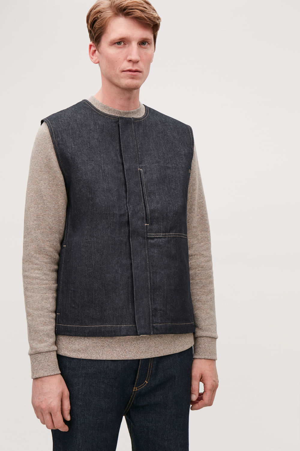 Denim Sleeveless Vest by Cos