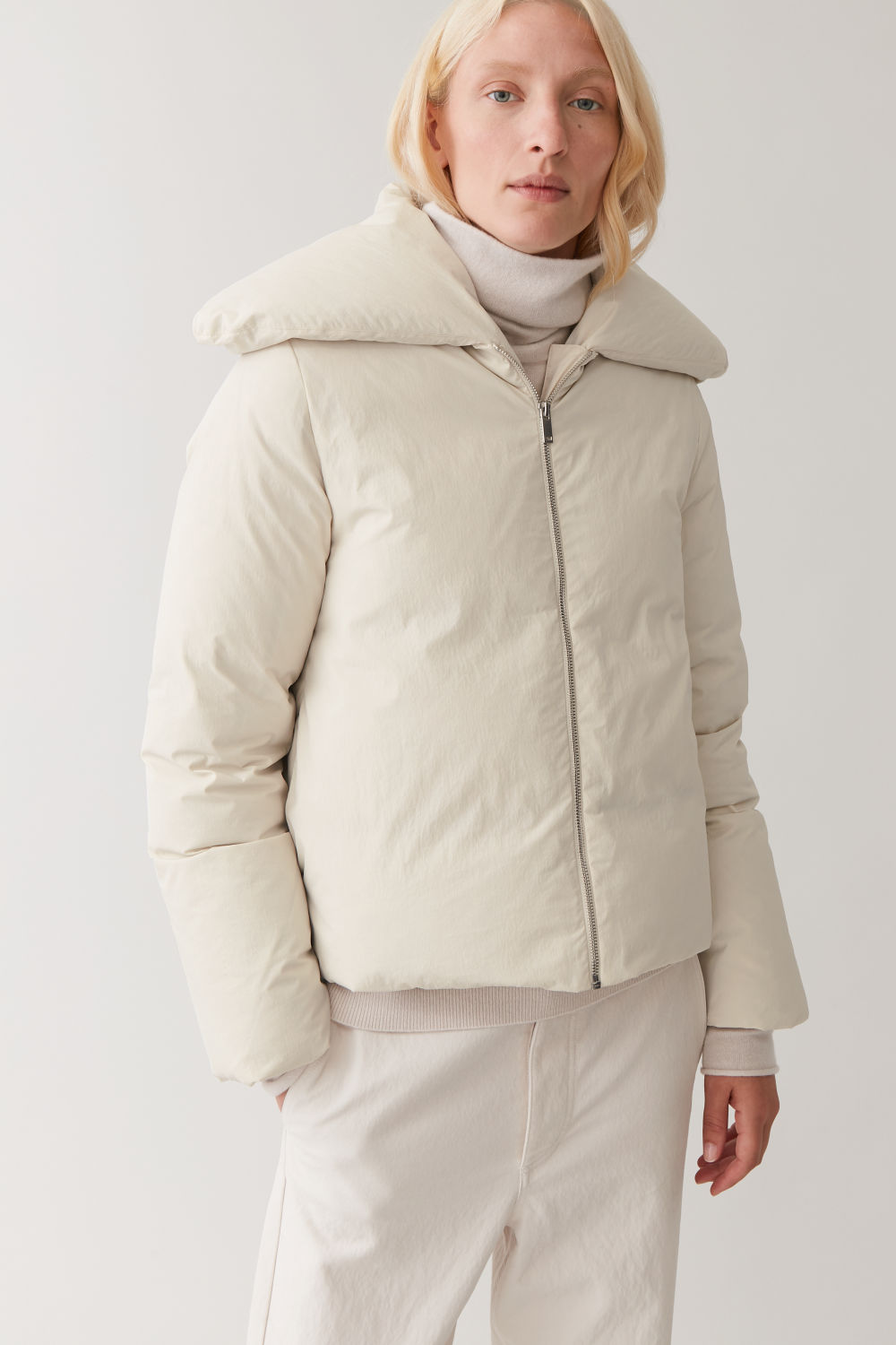 Cropped Padded Coat by Cos