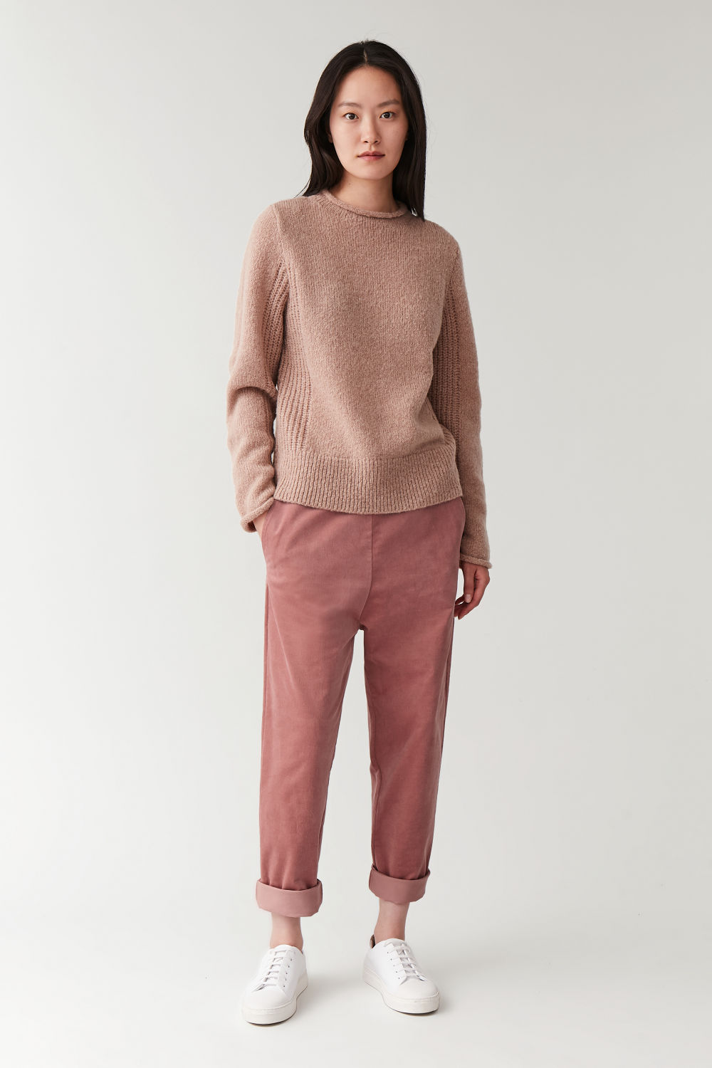Dropped Crotch Corduroy Trousers by Cos