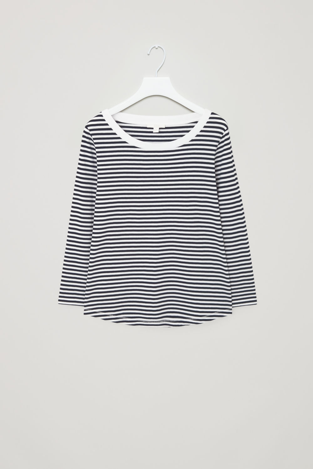 ¾-SLEEVED COTTON T-SHIRT