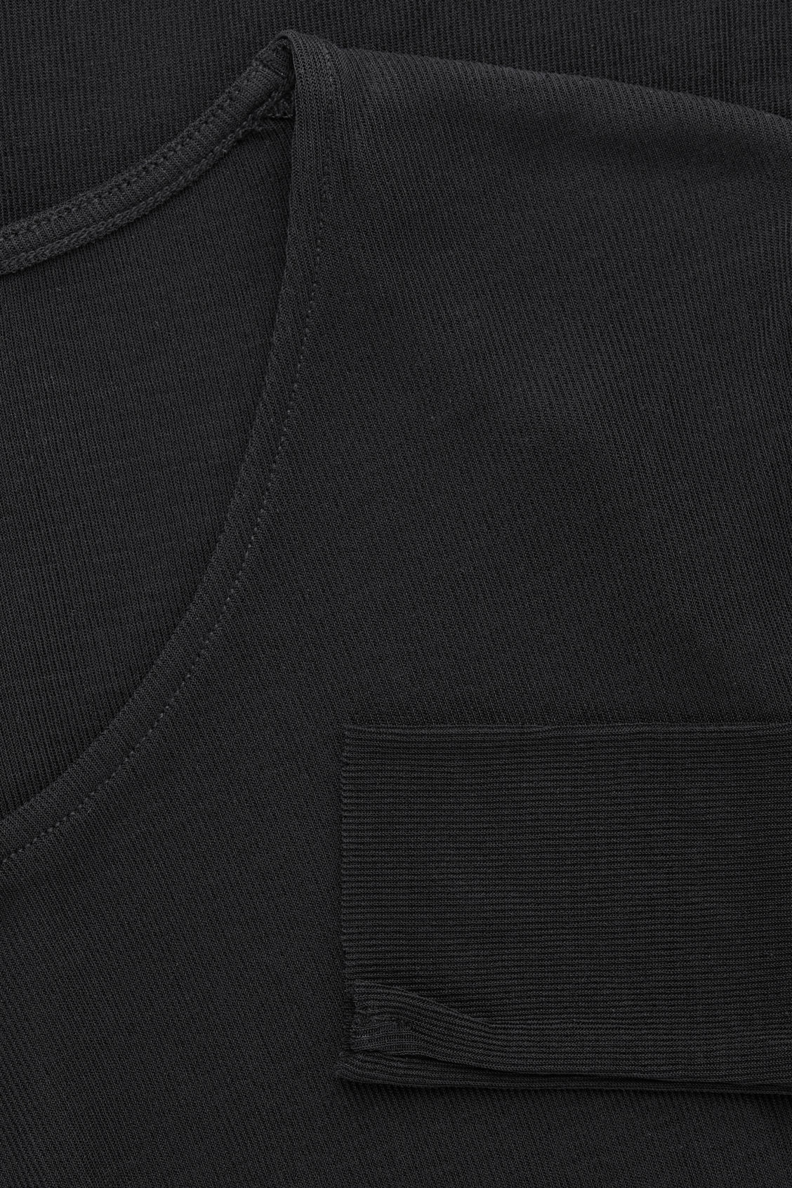 Side image of Cos silk jersey top in black