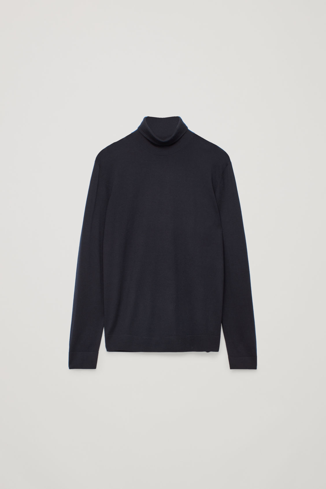 Front image of Cos merino roll-neck jumper in blue