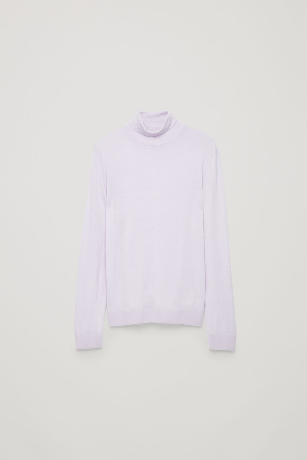 Front image of Cos merino roll-neck jumper in purple