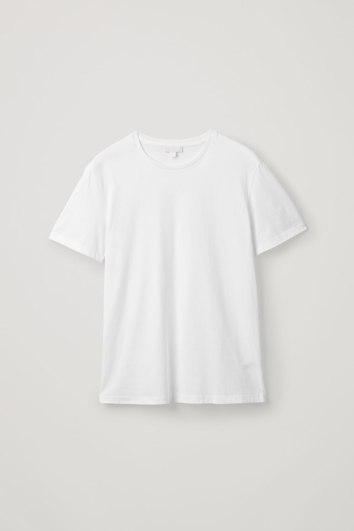 Side image of Cos round-neck t-shirt in white