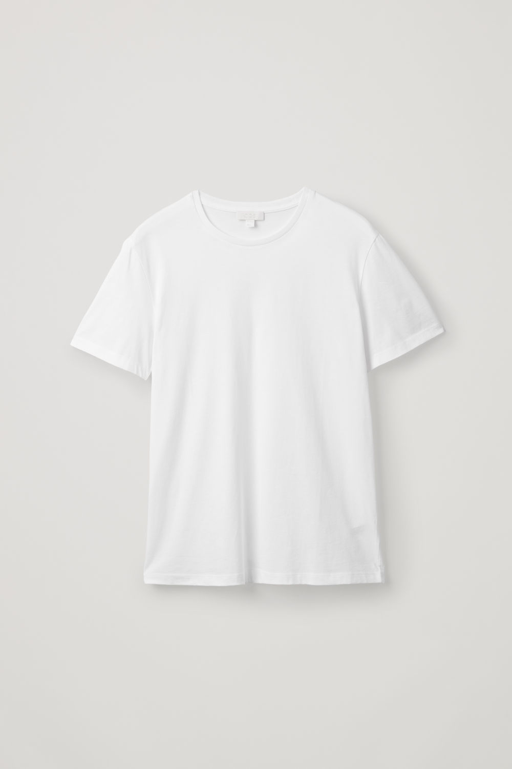 Front image of Cos round-neck t-shirt in white