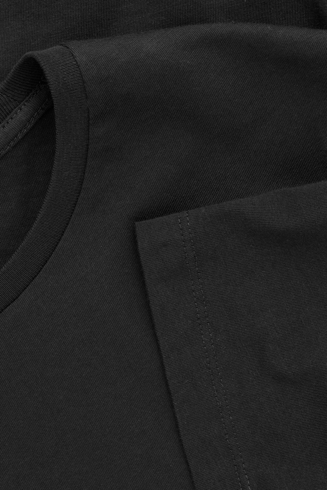 Side image of Cos round-neck t-shirt in black